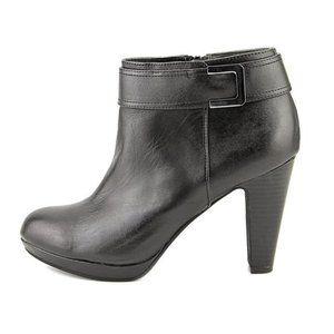 Giani Bernini Black Netty Ankle Leather Boots